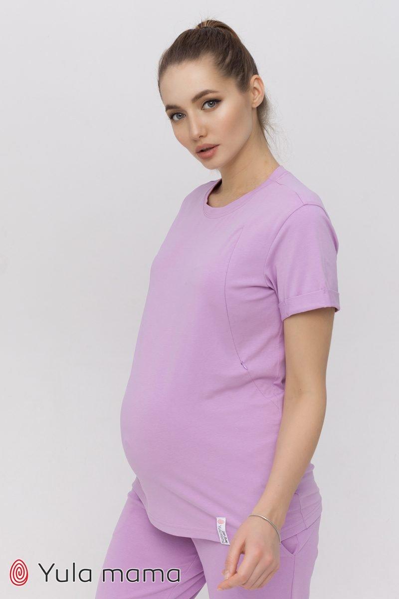 Футболка для беременных и кормящих Megan лаванда