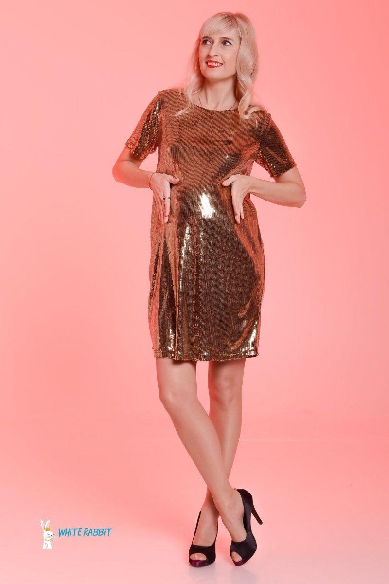Платье для беременных love (золотой) sale