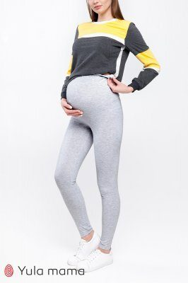 Лосины для беременных Hilla new серый меланж sale