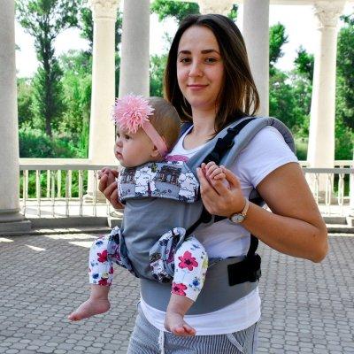 Ерго рюкзак Світ навколо сірий Париж (4 в 1)