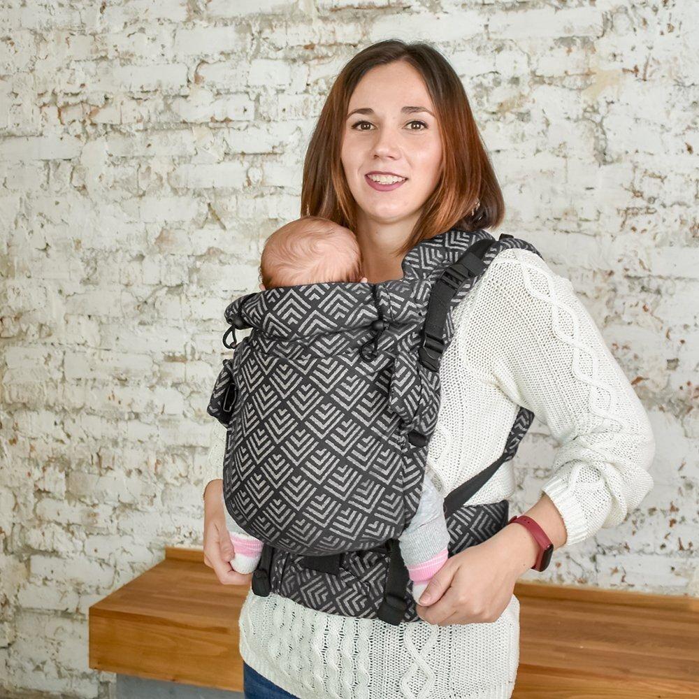 Эрго рюкзак Adapt серый Geometry (0-48 мес) с рождения