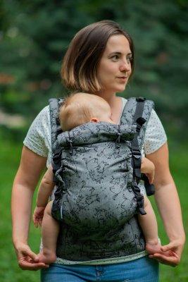 Эрго рюкзак от рождения Adapt серый Unicorns (0-48 мес)