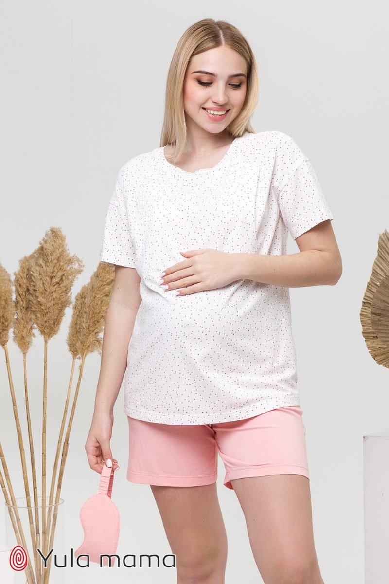 Хлопковая пижама для беременных и кормящих Janice цветные точки
