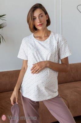 Хлопковая футболка для беременных и кормящих Aileen молоко