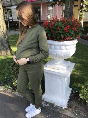 Спортивный костюм для беременных и кормящих мам Detroit хаки
