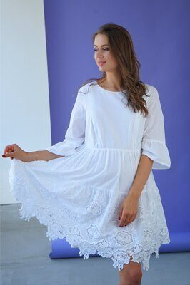 Платье для беременных и кормящих 4250722 белый sale
