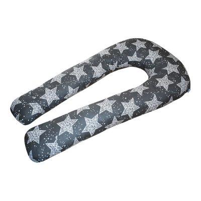 U-образная подушка подкова для беременных Звезды на сером