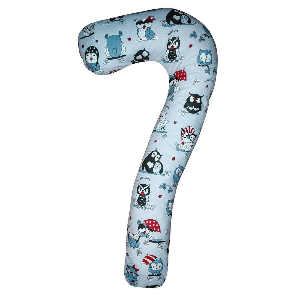 Подушка для вагітних Сьоме небо колір Сови на сірому