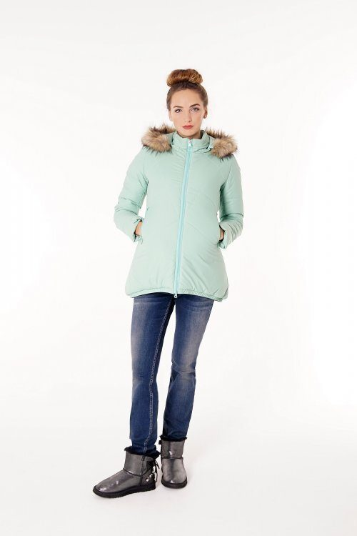Зимняя куртка для беременных 3043 мята sale