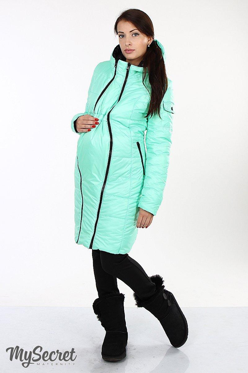 Зимнее двухсторонне пальто черный с мятой sale